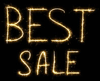 Text Best Sale made by sparkler Stock Images