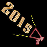 2015 Text on black background. 2015 Text on a black background royalty free illustration