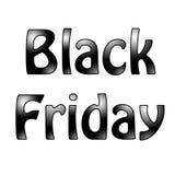 Text Black Friday auf weißem Hintergrund Lizenzfreie Stockbilder