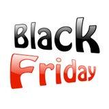 Text Black Friday auf weißem Hintergrund Lizenzfreie Stockfotos