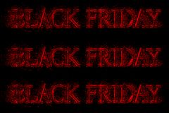 Text black friday close up on black background, template for sales and discounts, vector illustration