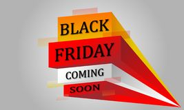 Text black friday coming soon royalty free stock image