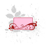 Text blank with flourishes. A grungy text vignette with floral elements Royalty Free Stock Images