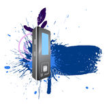 Text blot water-colour Royalty Free Stock Photo