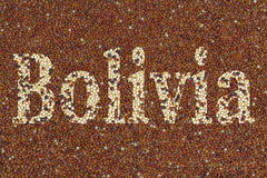 Text Bolivia Royalty Free Stock Photo