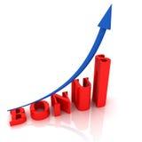 Text BONUS. 3D text BONUS with arrow sign. 3D render Stock Images