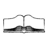 Text book open isolated icon Stock Image