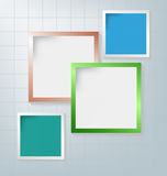 Text box. Abstract background of color boxes. Template for a text Stock Illustration