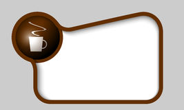Text box for any text with cup of coffee Stock Photo
