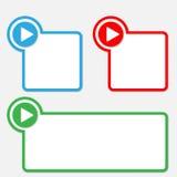Text box with arrow vector illustration