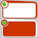 Text box and cloverleaf Royalty Free Stock Images