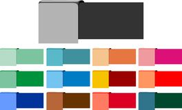Text box colorful infographic. Vector design art. clip art icon colors Stock Images