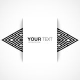 Text box design with abstract background Royalty Free Stock Images