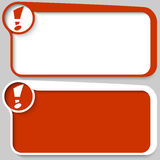 Text box and exclamation mark Royalty Free Stock Photography