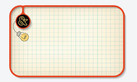 Text box. For fill your text with graph paper and ampersand Stock Images