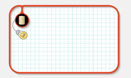 Text box. For fill your text with graph paper and golden coin Stock Photo