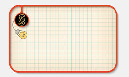 Text box. For fill your text with graph paper and paragraph Stock Images