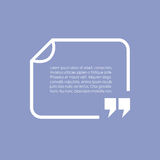 Text box frame Royalty Free Stock Photography