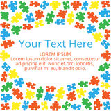 Text box with puzzles 01 Stock Images