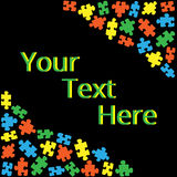 Text box with puzzles 02 Royalty Free Stock Photos