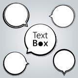 Text box and speech Royalty Free Stock Photos