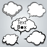 Text box and speech Royalty Free Stock Photo