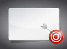 Text box and target. illustration design Royalty Free Stock Photo