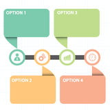 Text Box With Line Business Strategy Diagram Royalty Free Stock Image