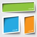 Text boxas design Royaltyfri Fotografi