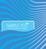 Text boxes in the background wave pattern Royalty Free Stock Photography