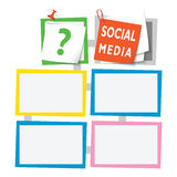 Text boxes. Colored abstract text boxes for your text and social media headline and question mark Stock Image