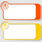 Text boxes vector illustration