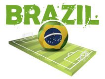 Text Brazil and a Sportfiled Royalty Free Stock Image