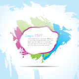 Text bubble. A brushed blank text bubble Stock Photography