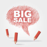 Text bubble BIG SALE. Vector text bubble BIG SALE eps without transparency Stock Photography