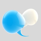 Text bubble conversation icon Stock Photo