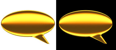 Text Bubble Gold Royalty Free Stock Image