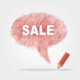 Text bubble SALE. Vector text bubble SALE eps without transparency Royalty Free Stock Photos