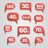 Text bubble SALE Royalty Free Stock Photos