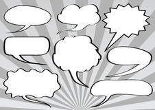 Text bubbles Royalty Free Stock Photos