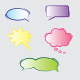 Text Bubbles. Colorful blank speech text bubbles Stock Images