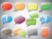 Text Bubbles Icons Royalty Free Stock Photos