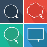 Text bubbles icons Royalty Free Stock Images