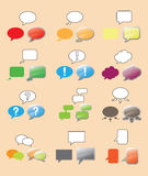 Text Bubbles Set Royalty Free Stock Photography