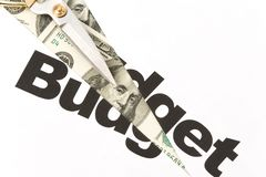 Budget Cut royalty free stock photography
