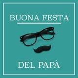 Text buona festa del papá, dia de pais feliz no italiano ilustração do vetor