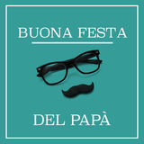 Text buona festa del papa, happy fathers day in italian Royalty Free Stock Photography