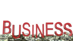 Text Business And Dollars Royalty Free Stock Photo