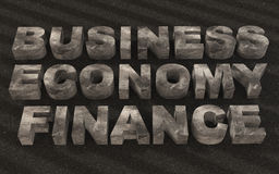 Text business finance  metal Royalty Free Stock Photography