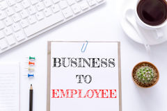 Text Business to employee on white paper background / business concept Stock Image